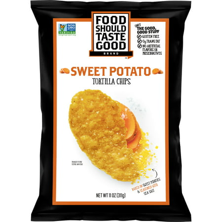 (2 Pack) Food Should Taste Good Sweet Potato Tortilla Chips, 11 oz for $<!---->