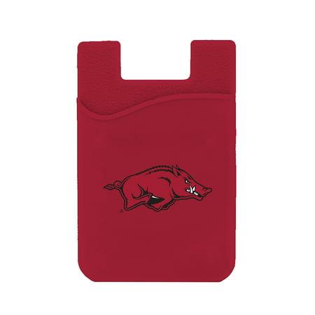 - Arkansas Razorbacks Silicone Credit Card Keeper Phone Wallet NCAA