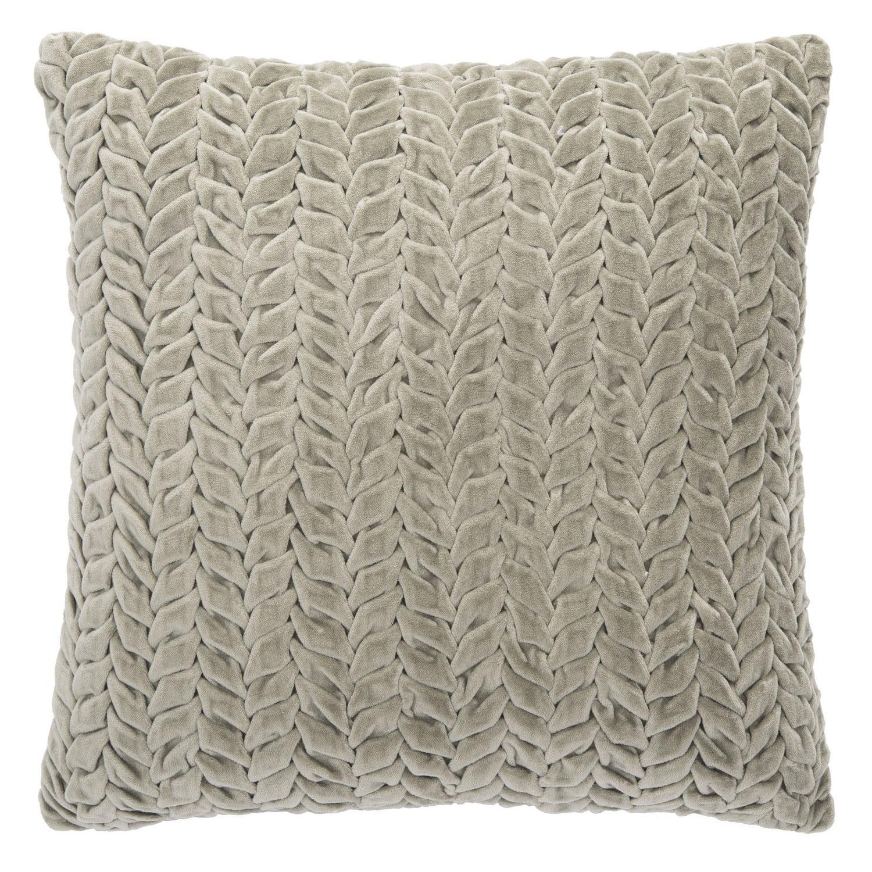 Safavieh Frenie Braided Texture Decorative Pillow 12 X 20 Green Walmart Com Walmart Com