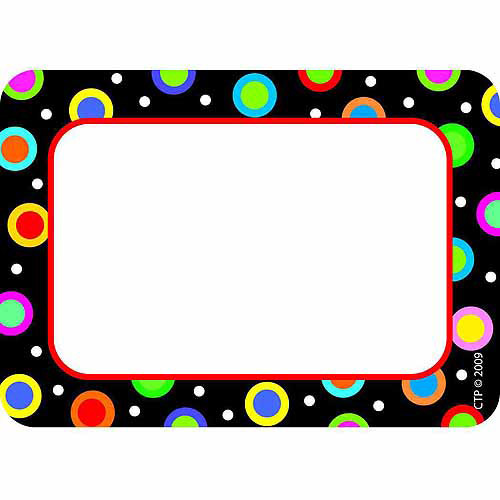 Creative Teaching Press Dots on Black Labels