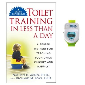 Toilet Training in Less Than A Day Guide Book with Potty Watch Trainer, Green by Potty Train Quickly
