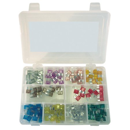 K Tool 00081 Mini Auto Fuse Assortment   120 Piece Color Coded Fuses From 2 Amp To 30 Amp