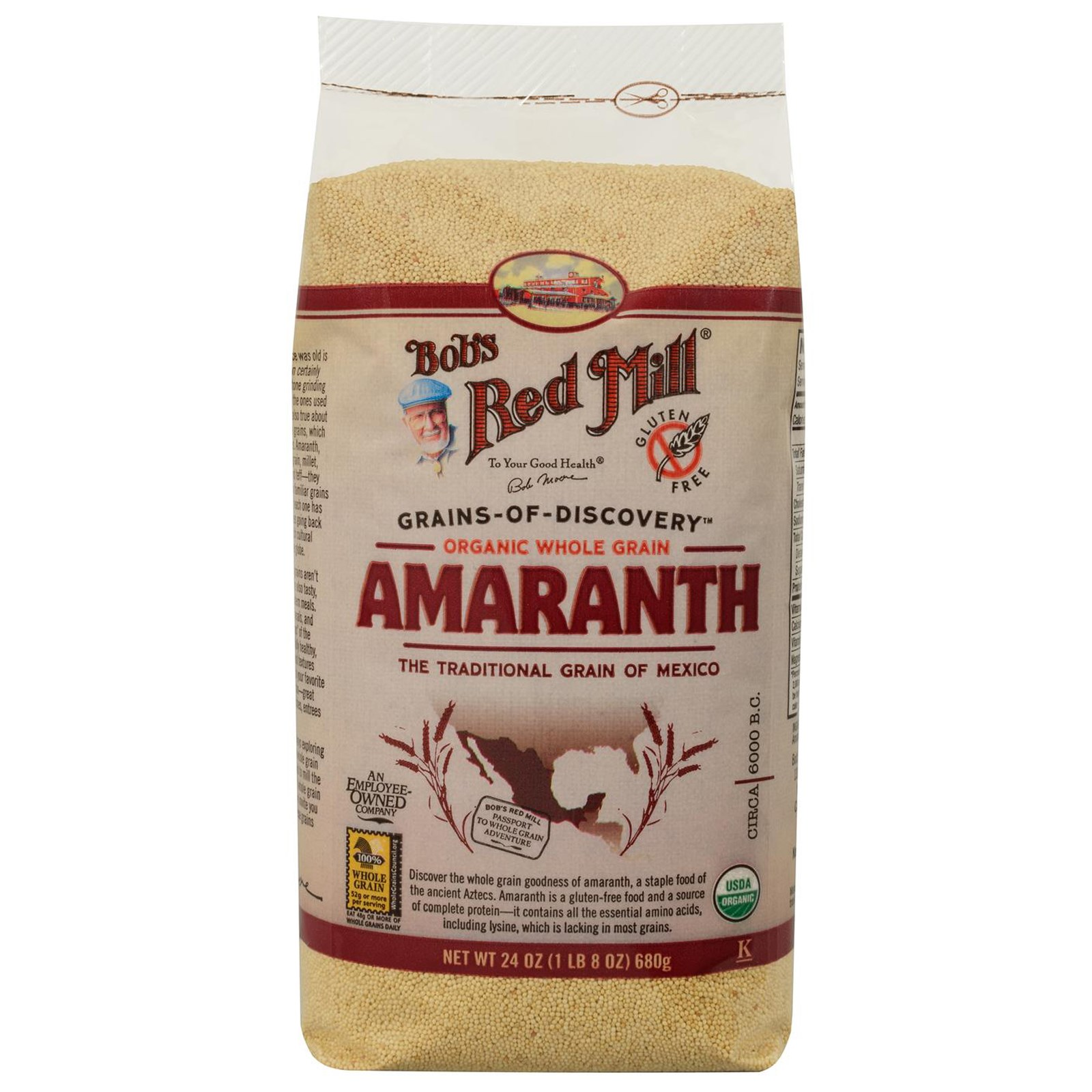 Bob's Red Mill, Organic Whole Grain Amaranth, 24 oz (pack...