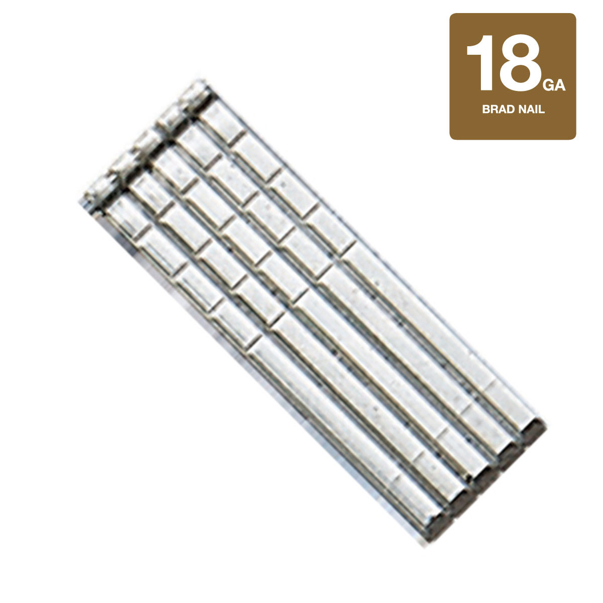 """1"""" x 18 Gauge Stainless Steel Brad Nails - 5000 Count Box"""