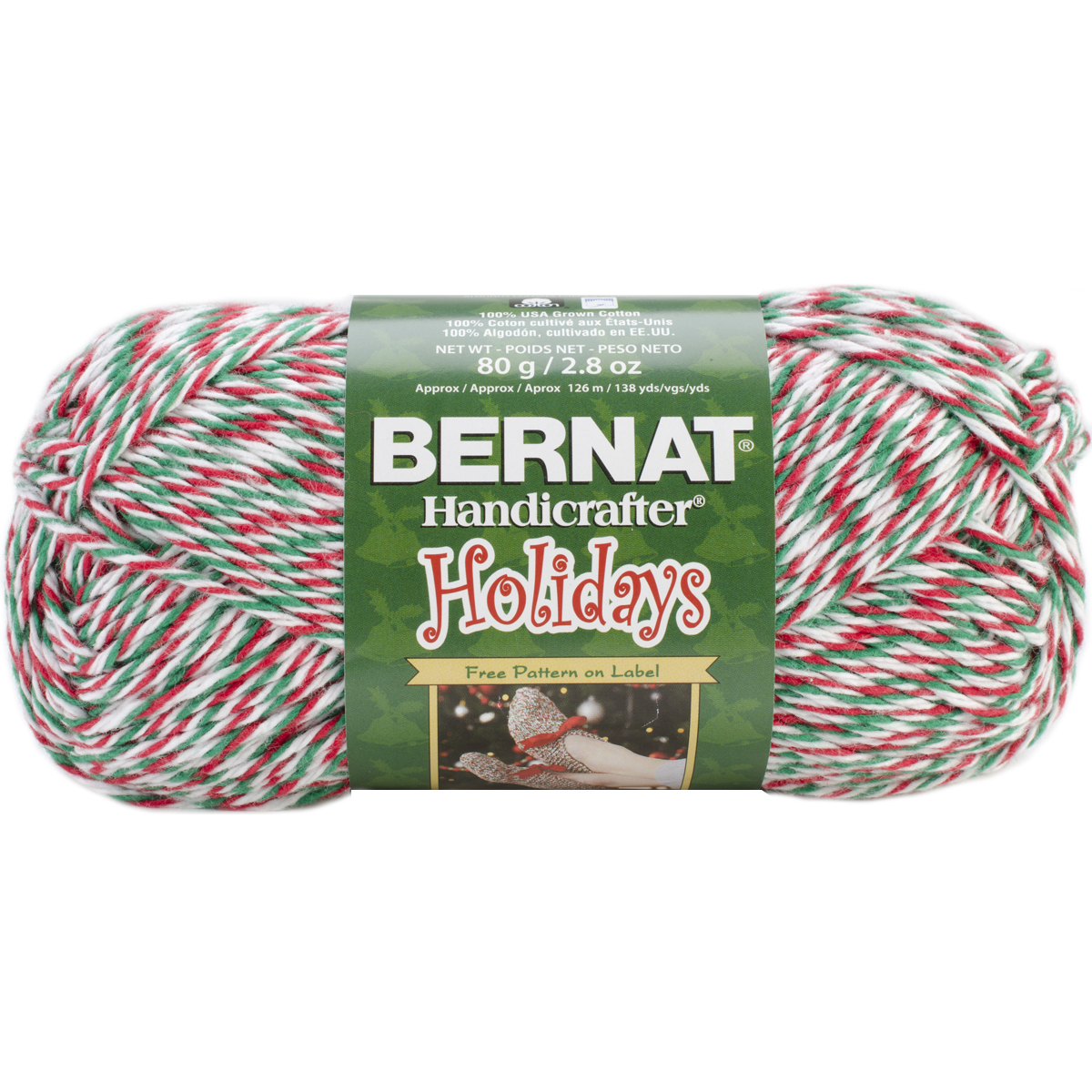 Bernat Handicrafter Holidays Twists Christmas Yarn, Yuletide Twists