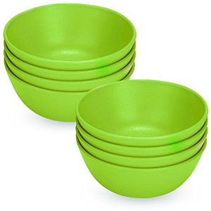 Green Eats Snack Bowls, 8 Count, Blue