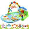 Baby Gym Fitness Playmat Lay Play Music Lights Fun Piano Activity Toy Christmas Gift 3 in 1 Newborn Baby Multifunction Play Mat Music Piano Fitness Gym Activity Mats(Random Color)
