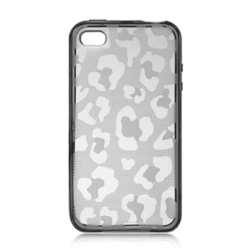 new arrival e42c8 41eb4 iPhone 4S Case, by Insten Leopard Skin TPU Gel Case Cover For Apple iPhone  4/4S, Clear