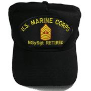USMC MARINE CORPS MGYSGT MASTER GUNS GUNNERY SERGEANT E9 RETIRED HAT NCO NON COM