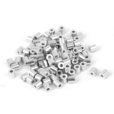 Long 4mm Rope (1.5mm Hole Steel Wire Rope Aluminum Ferrules Sleeves 4mm Long)