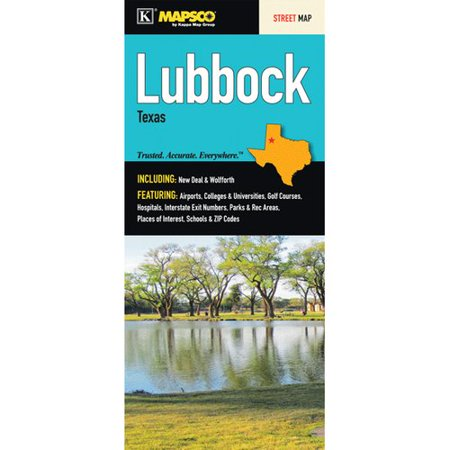 Universal Map Lubbock Texas Fold Map  Set Of 2