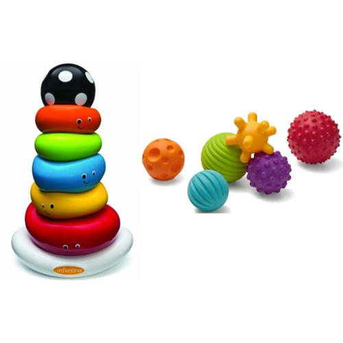Infantino Funny Faces Ring Stacker & Multi Ball Set