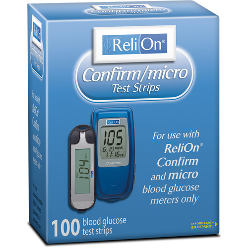 ReliOn Confirm/micro Blood Glucose Test Strips 100 count