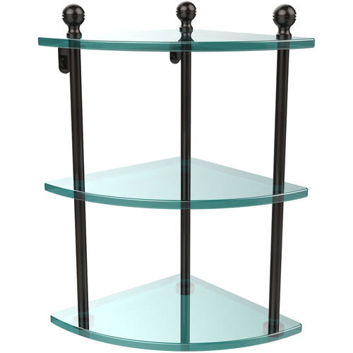 Mambo Collection 3 Tier Corner Glass Shelf (Build to Order)