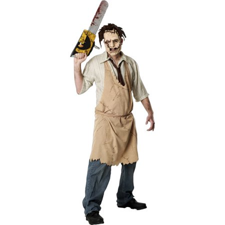 Leatherface Adult Halloween Costume, Size: Men's - One Size - Halloween Horror Nights Freddy Jason Leatherface