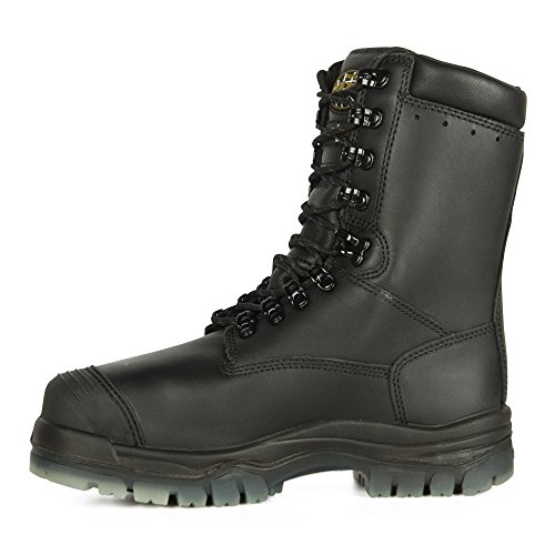 "Oliver 45 Series 8"" Leather Composite Toe Waterproof Insulated Men's Metatarsal Boots, Black (45680C)"
