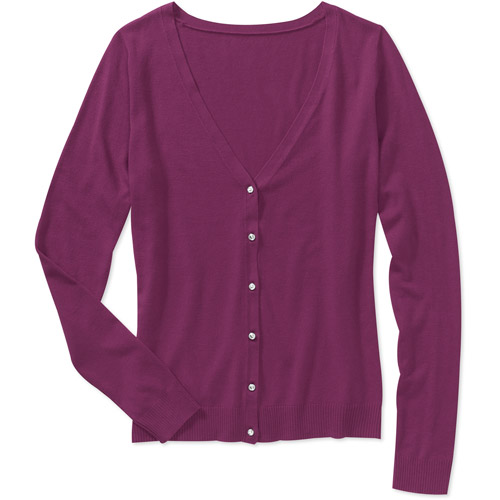 George Women's Plus-Size Cardigan with Jewel Buttons