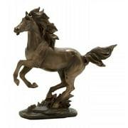 Antique Bronze Finished Wild Stallion Horse Statue