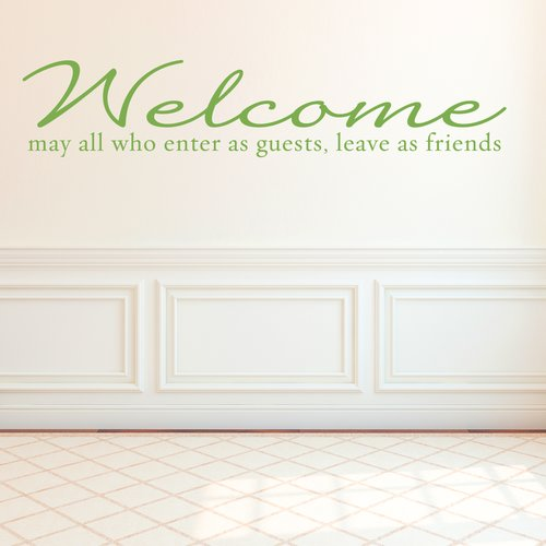 Wallums Wall Decor Welcome Guests and Friends Wall Decal