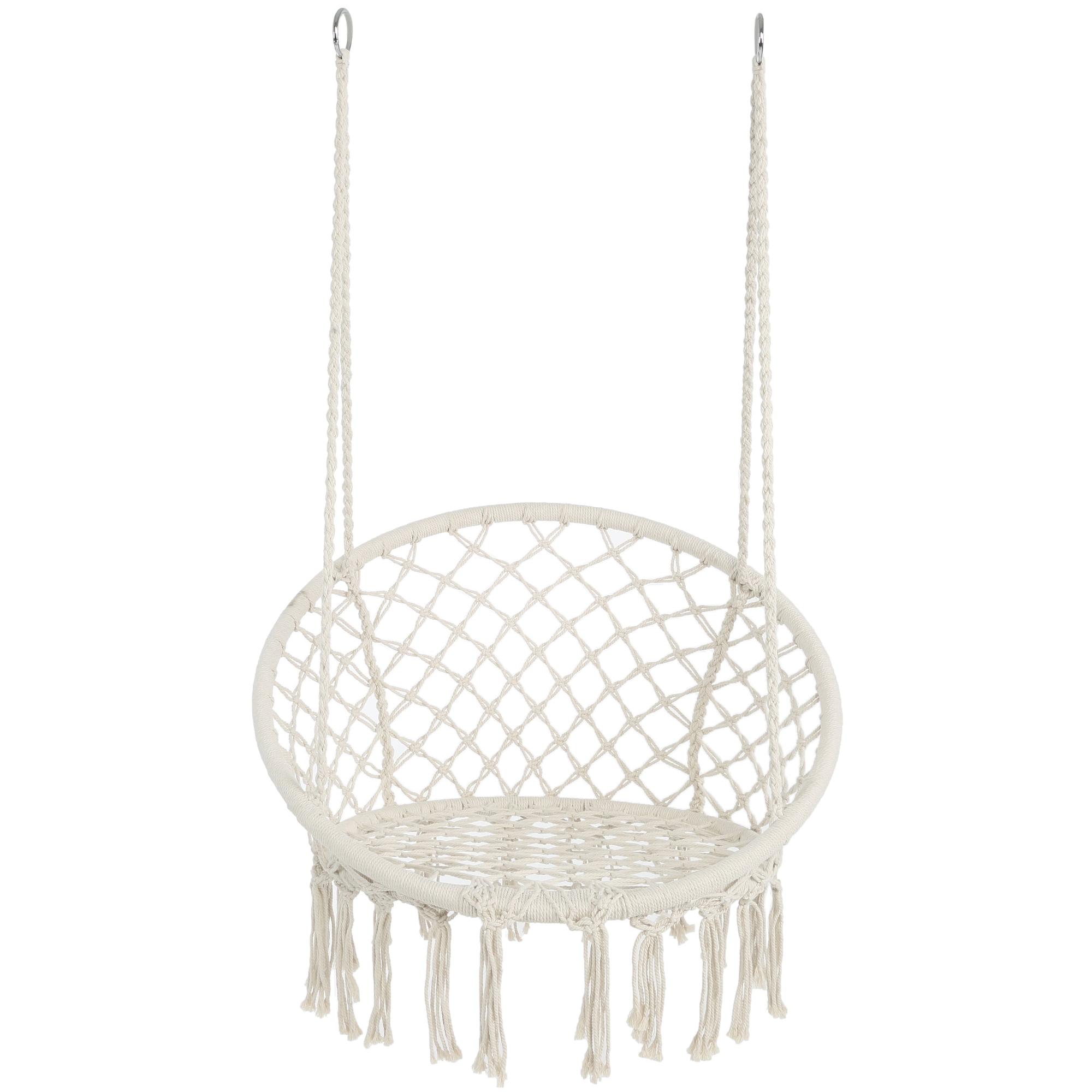 indoor hanging chair for bedroom, 32.3x32.2in widen boho