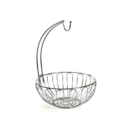 Home District Wire Fruit Basket with Banana Hanger - Countertop Food Storage Bowl with Hook](Halloween Food Ideas With Fruit)