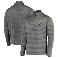 San Jose Earthquakes Antigua Frontier Quarter-Zip Pullover Jacket - Gray/Black