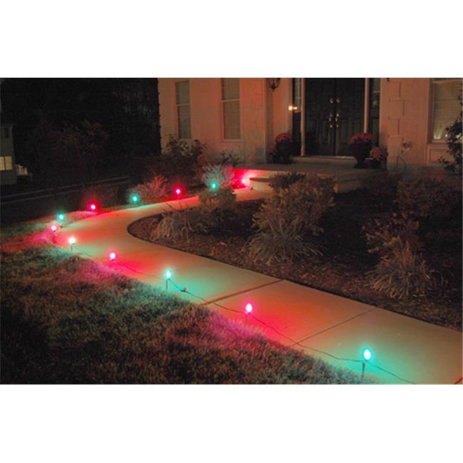 Jh Specialties 61110 Electric Pathway String Lights- 10 Count Red and Green