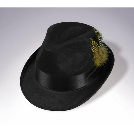 Adult Felt Fedora Hat With Feather Halloween Costume Accessory (Felt Hat With Feather)