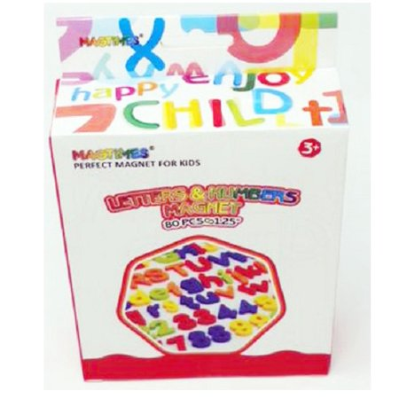 Magnetic Letters and Numbers for Educating Kids in Fun -Educational Alphabet Refrigerator Magnets -80 Pieces