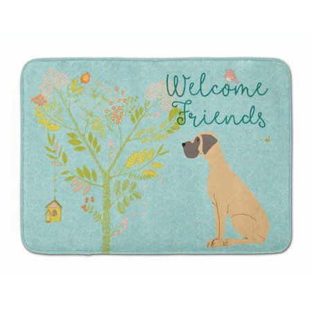 Welcome Friends Fawn Great Dane Natural Ears Machine Washable Memory Foam Mat BB7588RUG
