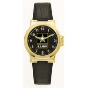 US Army Leather Dress Watch (Gold Color)