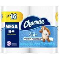 Charmin Ultra Soft 2-Ply Mega Toilet Paper Roll, 4 Count
