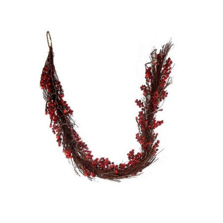 6 Battery Operated Pre Lit Led Cranberry Twig Garland