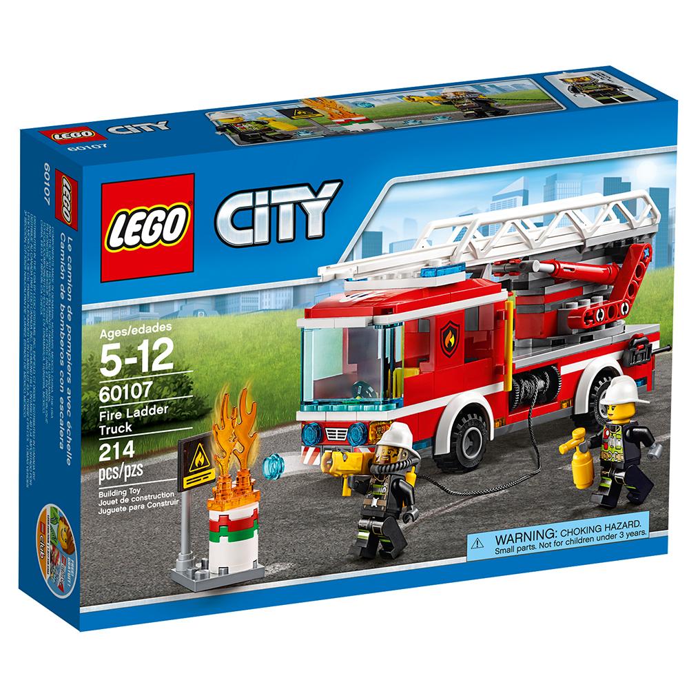 Lego City Fire Ladder Truck 60107 Walmart