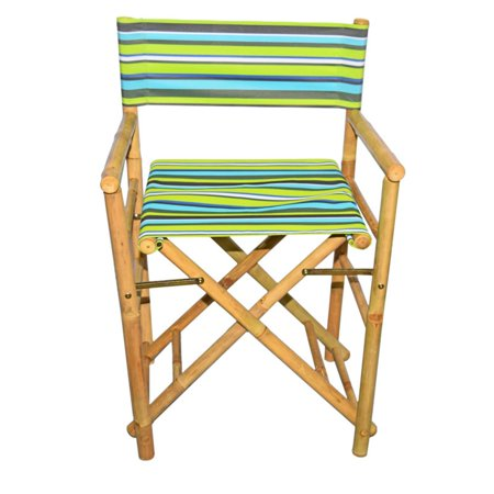 Bamboo54 Folding Bamboo Low Directors Chair With Canvas Cover Set Of 2