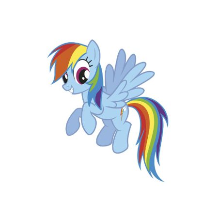 Rainbow Dash Peel and Stick Giant Wall Decals - image 1 of 1 ...