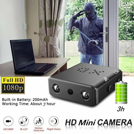 2019 Smallest Mini Camera IR-Cut 1080p Night Vision Infrared Motion Detection Video Recorder Security Camcorder DVR with Card (Best Home Camera System 2019)