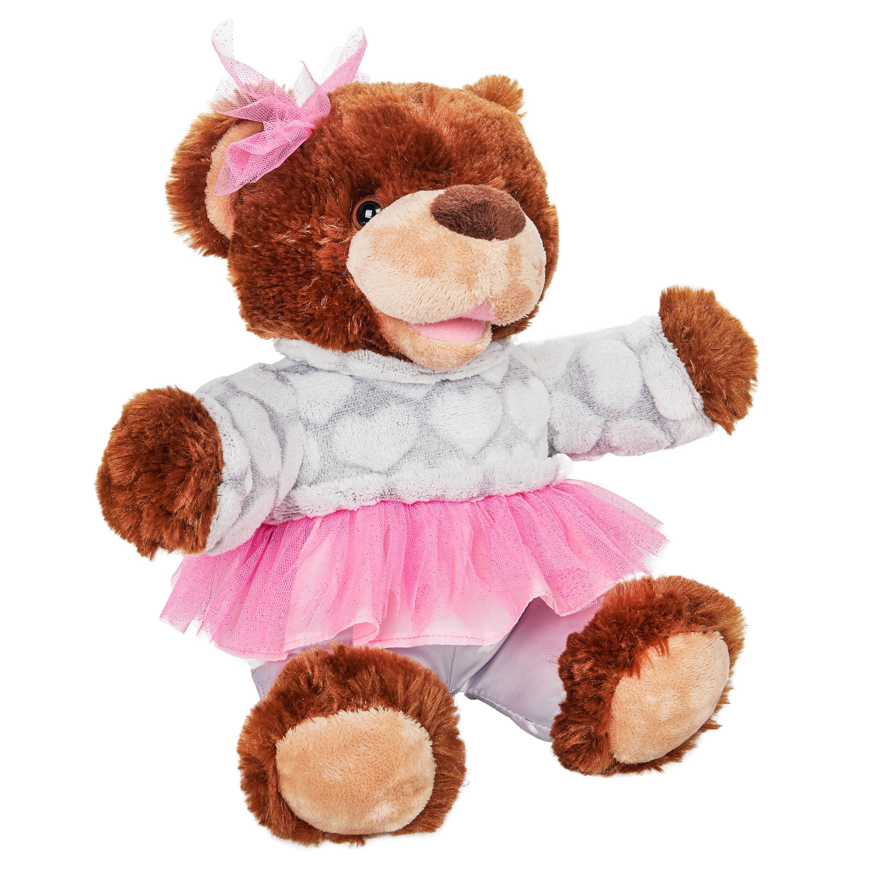 Recordable Teddy Bear Walmart, Way To Celebrate Recordable Plush Bear In Pink Tutu 12 Walmart Com Walmart Com