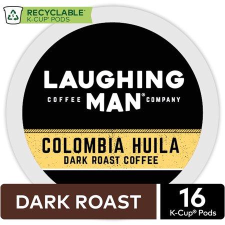 Laughing Man Colombia Huila Coffee, Keurig K-Cup Pod, Dark Roast,