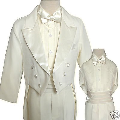 Boy Wedding Prom Musical Recital Formal Party Tuxedo Suit Ivory sz 14,16,18, 20 (Prom Suit)