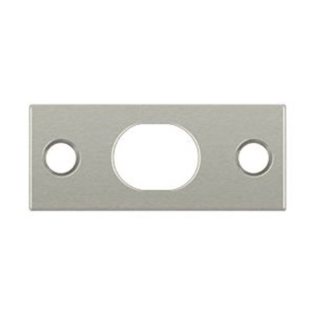 Deltana SP12EFB15 Brass Strike Plate for 12 in. Flush Bolt, Brushed Nickel