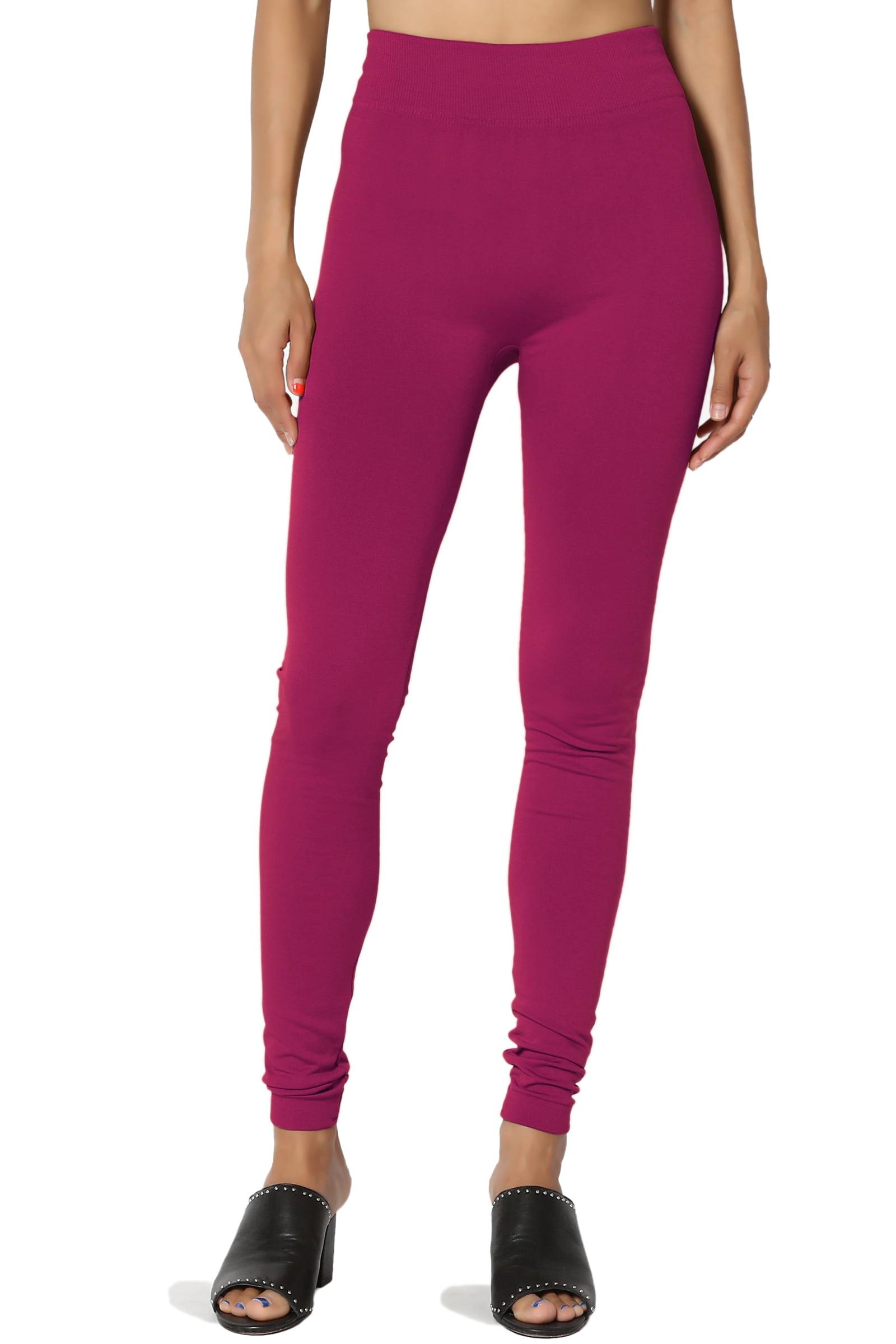 TheMogan Women's S~3X High Waist Warm & Comfort Insulated Seamless Fleece Leggings