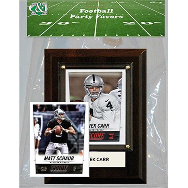 Candlcollectables 46LBRAIDERS NFL Oakland Raiders Party Favor With 4 x 6 Plaque