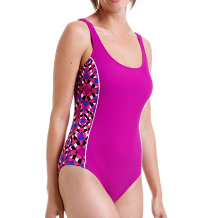 7ac80011224 Catalina - Women s Sporty H-Back One Piece Swimsuit with Side Insets ...