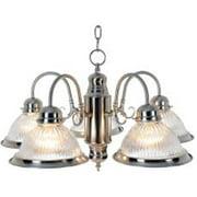 Monument 558724 Traditional Chandelier Ceiling Fixture  Maximum Five 60 Watt Medium Base Bulbs  Brushed Nickel