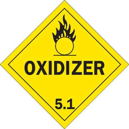 Brady 63415 Oxidizer 5.1 Vehicle Placard, 10-3/4 In.](Name Placard)