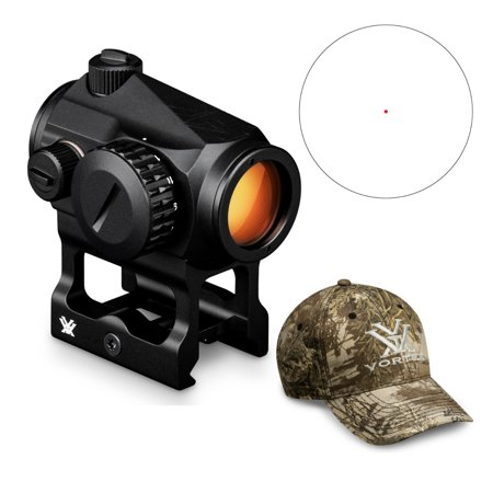 Vortex Crossfire Red Dot Sight (2 MOA Dot Reticle) and Vortex Hat (Real