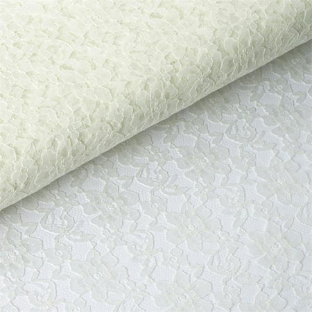 - 54 inch x 15 yards Lace Fabric Bolt - Ivory