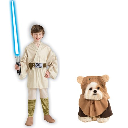 Luke Skywalker Jedi Costume (Star Wars Luke Skywalker Child Ewok Pet Bundle)