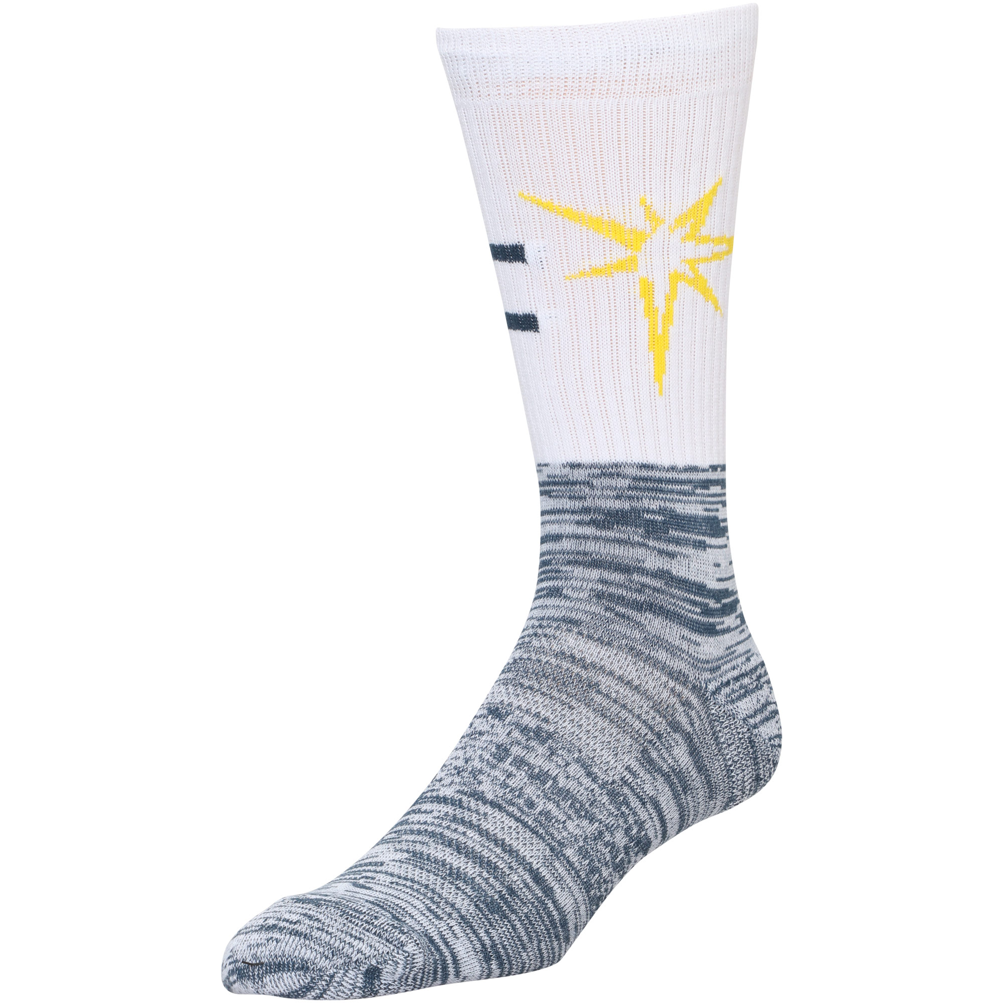 Tampa Bay Rays Block Crew Sock - L